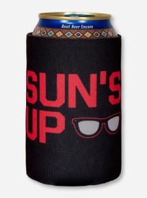 Sun's Up, Gun's Up! Black Can Cooler- Texas Tech