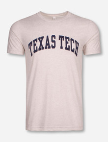 Classic Texas Tech Red Raiders Navy Arch on Oatmeal T-Shirt
