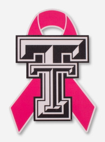 Texas Tech Red Raiders Breast Cancer Awareness Ribbon Decal