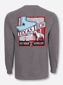 Texas Tech Red Raiders Wood Carving Long Sleeve Shirt