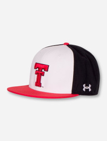 """Under Armour Texas Tech Red Raiders 2021 """"On The Field"""" Tri Color Fitted Cap"""