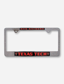 Texas Tech Red Raiders with Rhinestone License Plate Frame