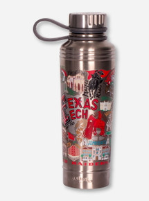 CatStudio Texas Tech Red Raiders Thermal Travel Bottle