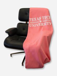 Texas Tech Red Raiders Bar None White Text Sweatshirt Blanket