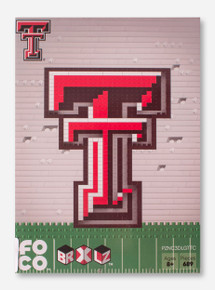 Texas Tech Red Raiders 3D Brick Double T with Grass