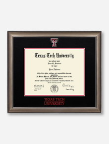 Satin Black and Red Diploma Frame C11