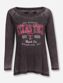 """Pressbox Texas Tech Red Raiders """"Vintage Aqua"""" Long Sleeve Shirt"""