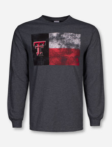 Texas Tech Red Raiders Distressed Tech Flag Long Sleeve Shirt