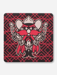 Texas Tech Red Raiders Geometric Raider Red Coaster