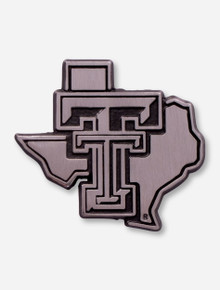 Texas Tech Red Raiders Matte Chrome Lone Star Pride Emblem