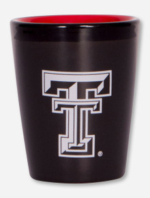 Texas Tech Red Raiders Double T Red and Black Shot Glass