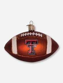 Texas Tech Red Raiders Glass Blown Football Ornament