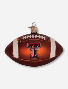 Texas Tech Red Raiders Glass Blown Football Ornament