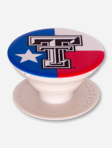 Texas Tech Red Raiders Flag Pop Socket Grip Stand
