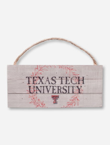 Texas Tech University Wreath Wood Sign