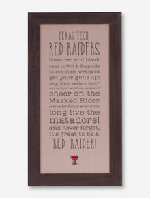 Glory Haus Texas Tech Red Raiders Fabric Board