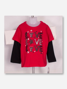 """Arena Texas Tech Red Raiders """"Love Love Love """" TODDLER Long Sleeve"""