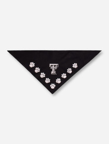 Texas Tech Red Raiders Dog Bandana with White Double T and Paw Prints