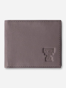 "Texas Tech Red Raiders ""Westbridge"" Bifold Grey Leather Wallet"