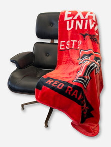 Texas Tech Red Raiders Label Raschel Throw