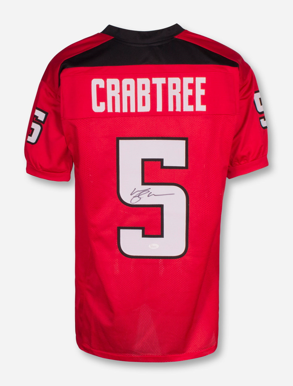 quality design 9746e a45f1 Texas Tech Michael Crabtree Signed #5 Red College Style Jersey