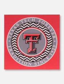 Texas Tech Red Raiders Chevron Circle Canvas Wall Art