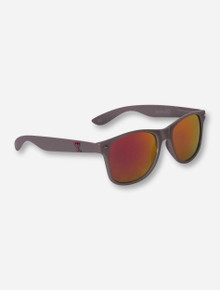 Texas Tech Red Raiders Double T on Grey Sunglasses with Mirrored Lenses
