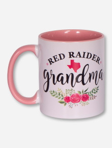 Texas Tech Red Raiders Floral Grandma Two-Tone Coffee Mug
