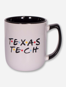 Texas Tech Red Raiders Double T Coffee Mug With Multi-Colored Dots