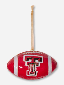 Kitty Keller Texas Tech Red Raiders Football Ornament