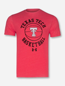 "Under Armour 2018 Texas Tech Red Raiders ""Throwback Basketball"" T-Shirt"