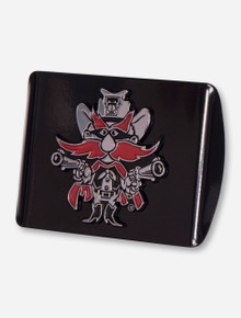 Texas Tech Red Raiders Raider Red Black Hitch Cover