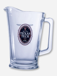 Texas Tech Red Raiders Fight Song Glass Pitcher