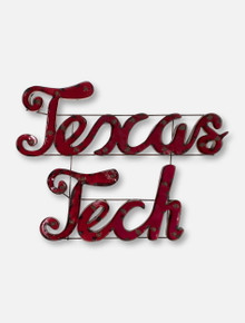 Texas Tech Script Illuminated Metal Sign
