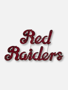 Red Raiders Script Illuminated Metal Sign