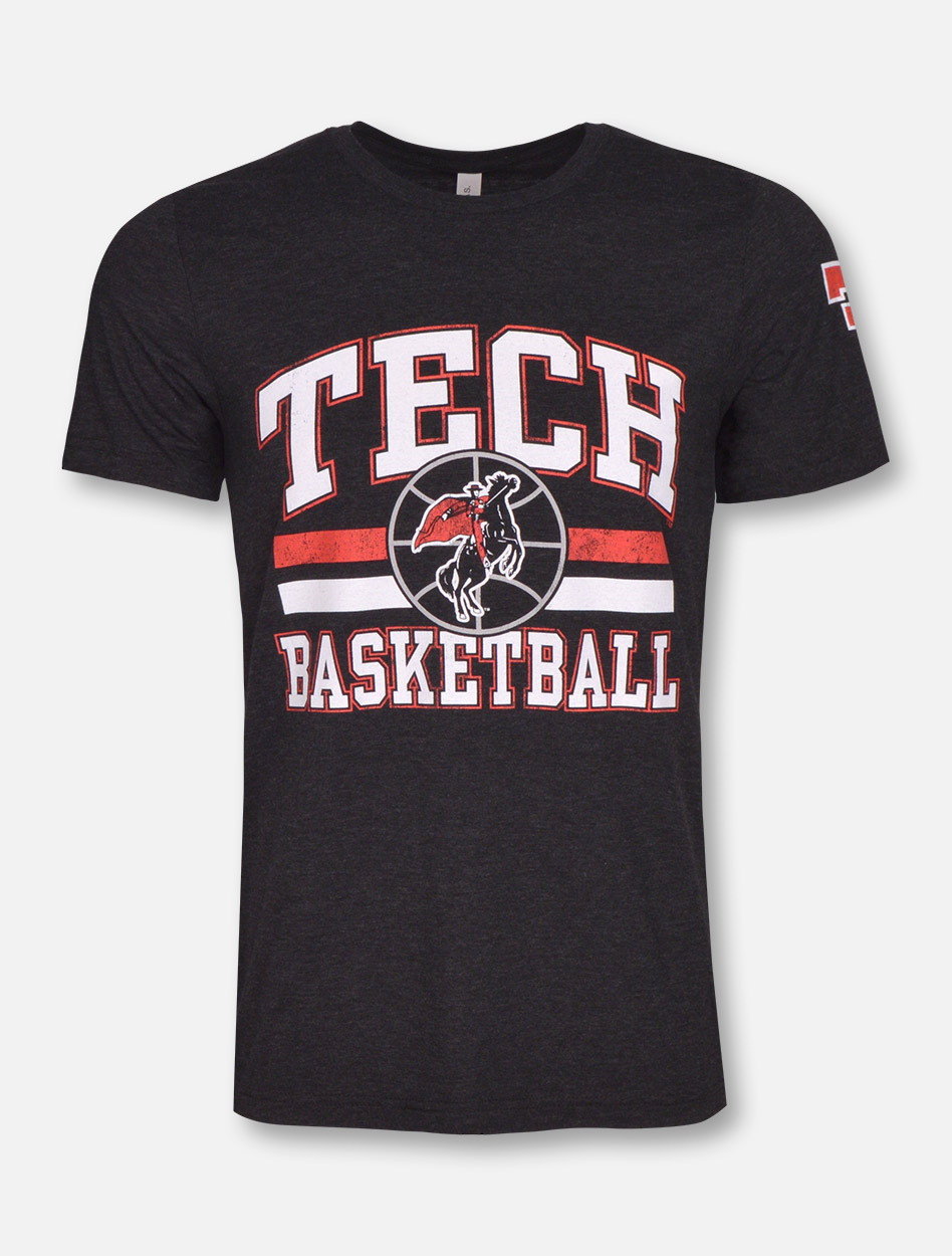 Big Texas Vintage Baller Raiders Tech Basketball T Red Shirt LUSqzVpMG