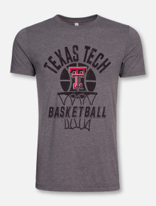 Texas Tech Red Raiders Through the Hoop Basketball T-Shirt