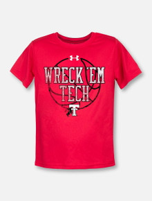 "Under Armour Texas Tech ""Basketball Wreck 'Em"" YOUTH T-Shirt"