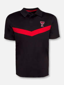 Arena Texas Tech Red Raiders Fastball Black Polo