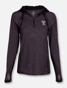 "Arena Texas Tech Red Raiders ""Evelyn"" Quarter Zip Hoodie"