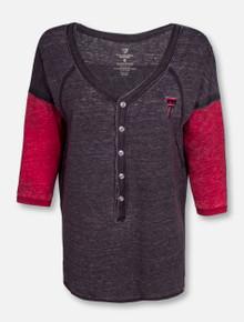 "Arena Texas Tech Red Raiders ""Major League"" Baseball Henley Shirt"