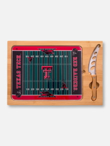 Texas Tech Red Raiders Football Field Cutting Board and Knife Set