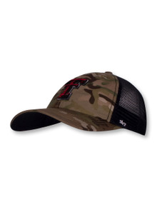 47 Brand Texas Tech Red Raiders  Double T Camo Mesh Stretch Fit Cap