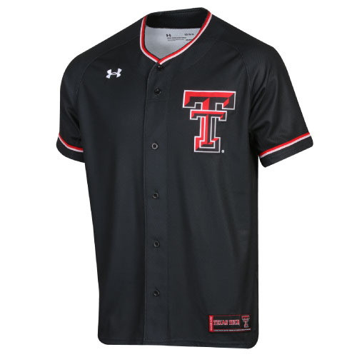 69772457 Under Armour Texas Tech Red Raiders Double T Black Baseball Jersey