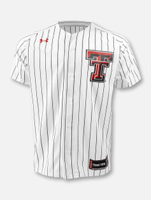 Under Armour Texas Tech Red Raiders Double T Pinstripe Baseball  Jersey