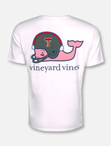 Vineyard Vines Texas Tech Red Raiders Football Whale with Helmet T-Shirt