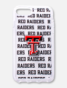 "Speck Texas Tech Red Raiders Double T on Clear Case with Repeating ""Red Raiders"" Word Wrapped Background Cell Phone Case"
