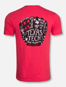 3dfed831d Texas Tech Red Raiders Baseball Glove T-Shirt