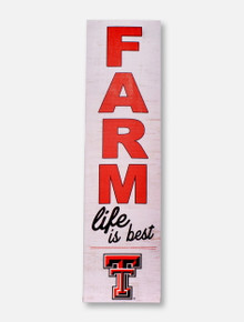 "Texas Tech Red Raiders ""Farm Life Is Best""  Wall Art"