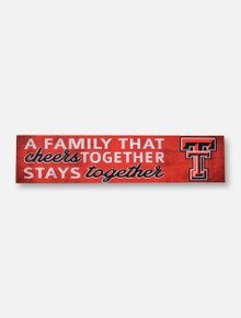 "Texas Tech Red Raiders Double T ""Family That Cheers Together""  Wall Art"